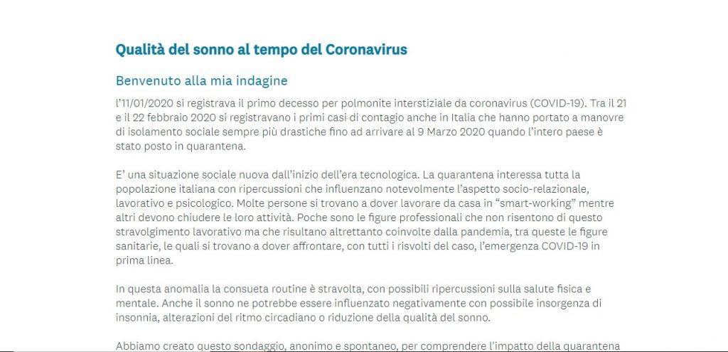 Coronavirus Questionario