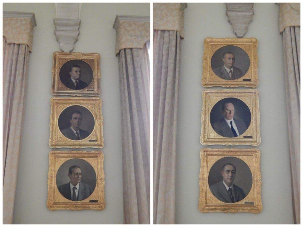La galleria dei ritratti dei sindaci di Catania, posta al primo piano di Palazzo degli elefanti. Emanuele Di Giovanni realizzò i ritratti dei sindaci dal 1944 al 1978 circa.