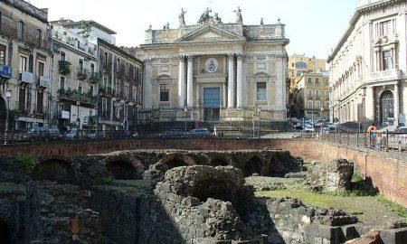 Lato dell'anfiteatro rivolto verso la Chiesa di Sant'Agata alla Fornace