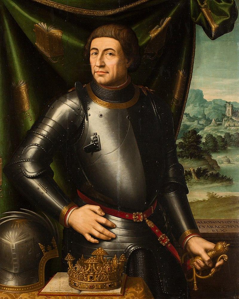Re Di Spagna Alfonso D'aragona Fondatore Dell'università Di Catania