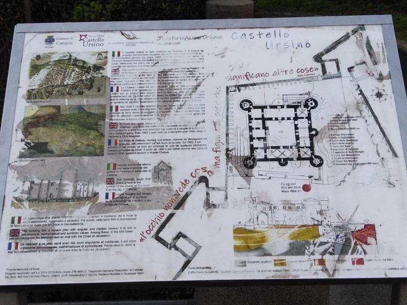 Planimetria del Castello Ursino - Foto: Cavaleri Filadelfo