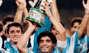 Diego Armando Maradona (ssc Napoli) Supercoppa Italiana 1990