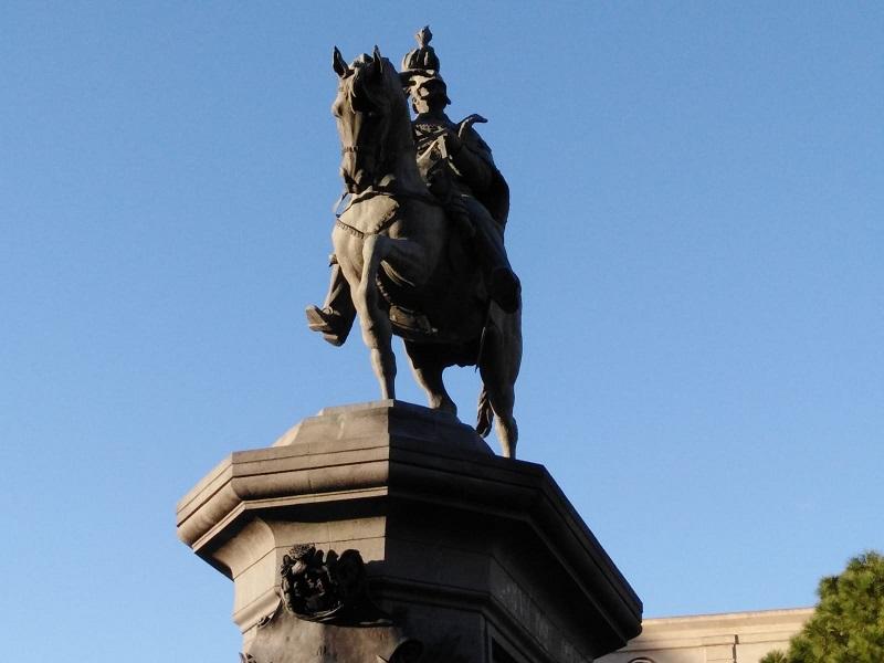 Piazza Roma: La Statua di Umberto I-Foto: Cavaleri Filadelfo