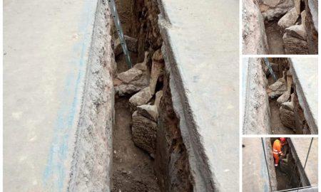 durante gli scavi per interrare dei nuovi cavi elettrici, in via androne e nelle aree limitrofe sono stati rinvenuti resti di tombe di epoca romana e bizantina