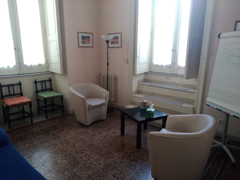Centro Koros: stanza per gli incontro con le famiglie e le coppie