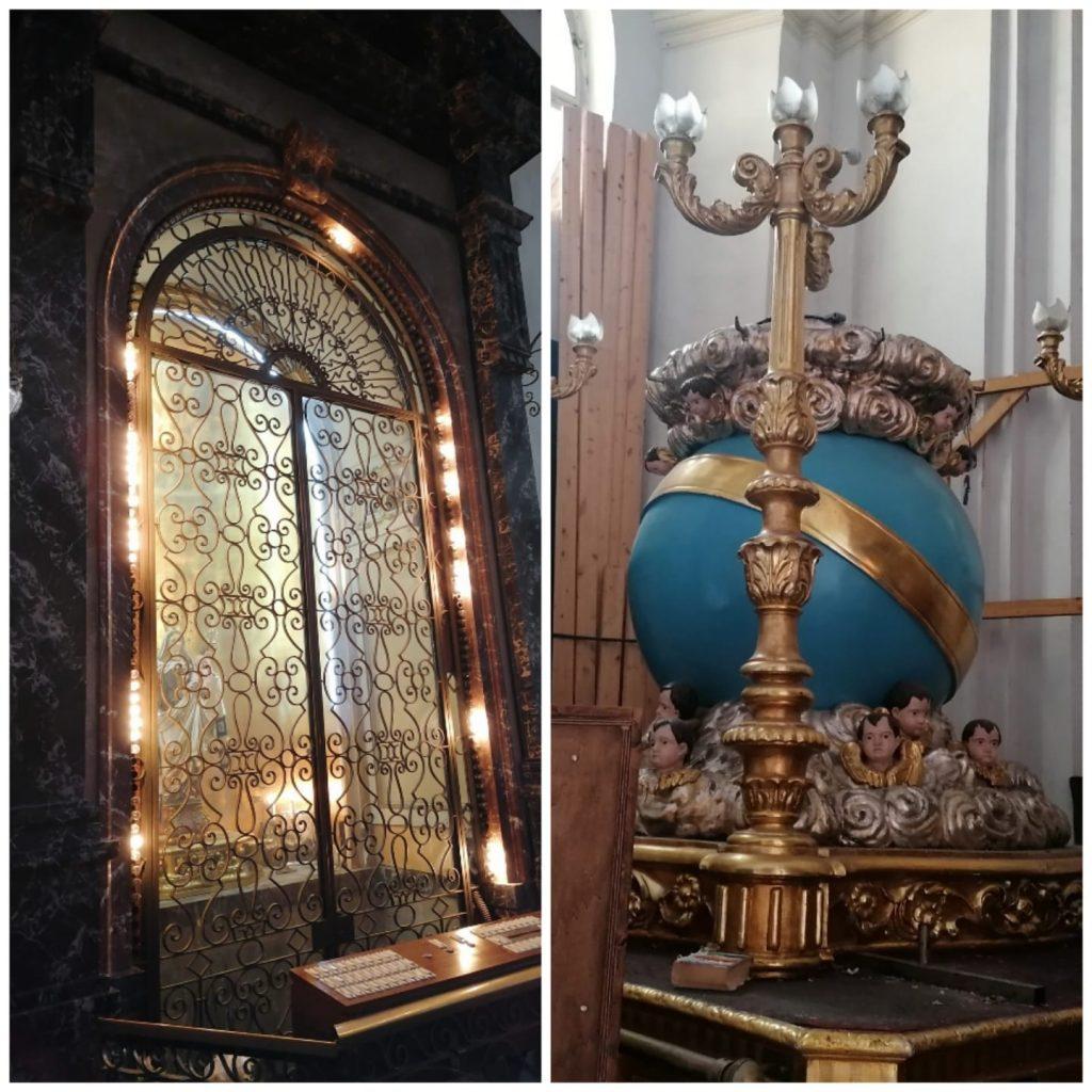 a cappella che accoglie il simulacro della Madonna del Carmelo e il fercolo su cui viene portato in processione il simulacro ligneo il 16 luglio, giorno della festa.