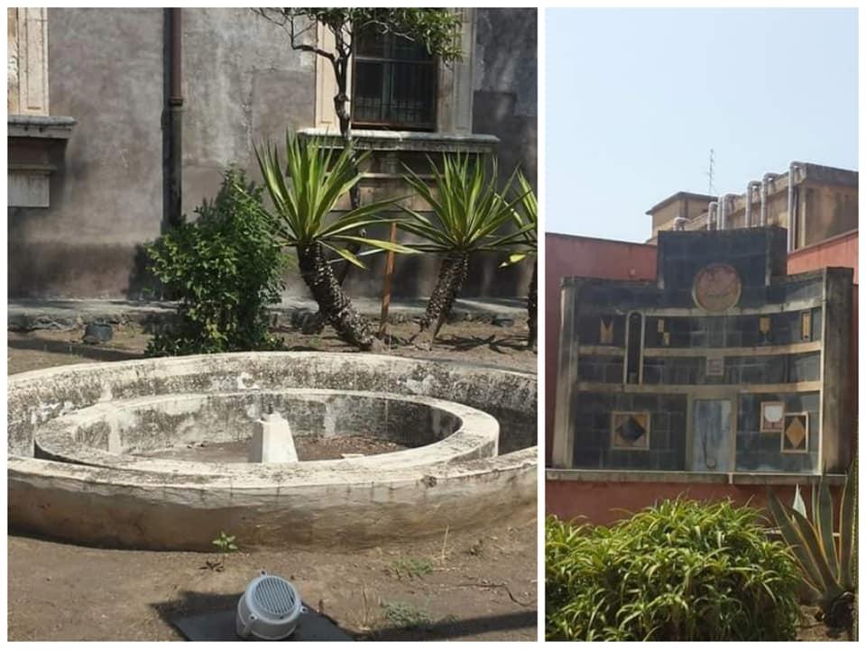 Le fontane dei giardini pensili del Monastero dei Benedettini dedicati ai novizi.