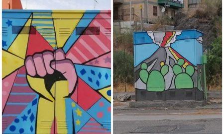 Cabine del gas decorate dagli studenti catanesi per sensibilizzarli a essere cittadini