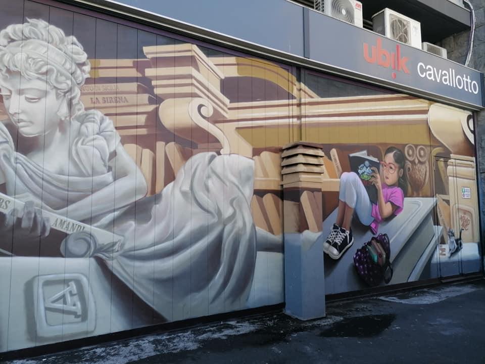 Il murales di Antonio Anc realizzato in piazza grenoble