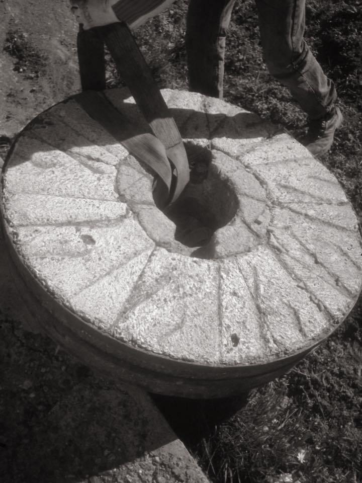 Mulino a pietra: una macina