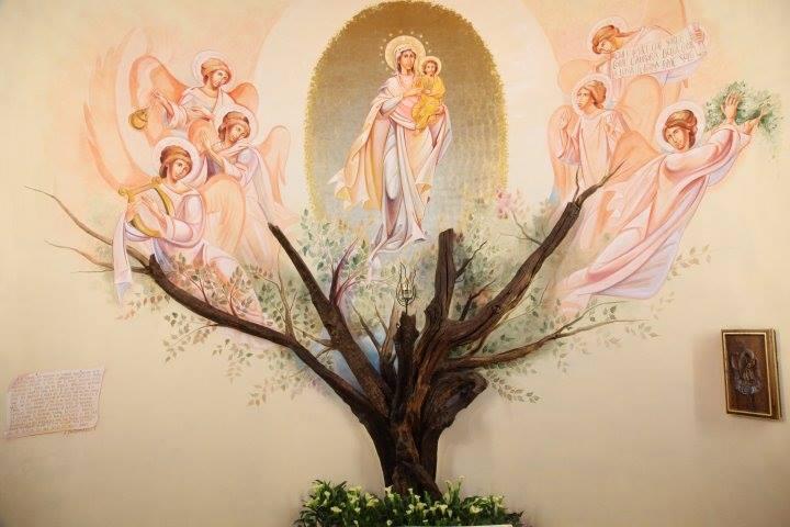 Sull orme dei padri: il dipinto sull'altare della querciola