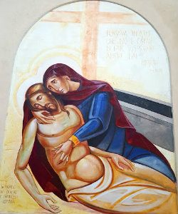 Il brutto anatroccolo: Maria tiene Gesù