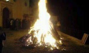 il fuoco acceso pe l'Immacolata