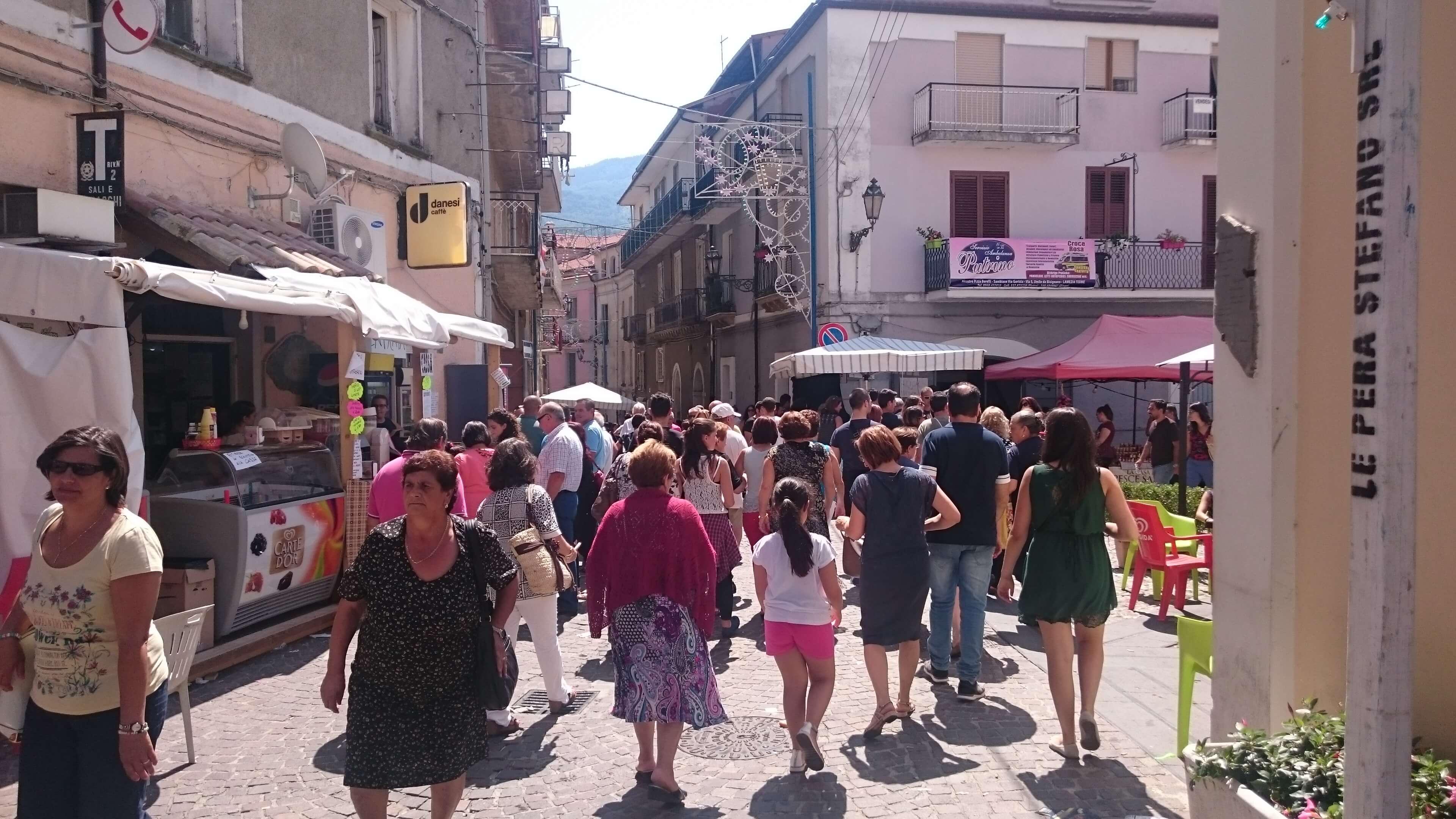 Giorni della festa della Madonna a Conflenti.
