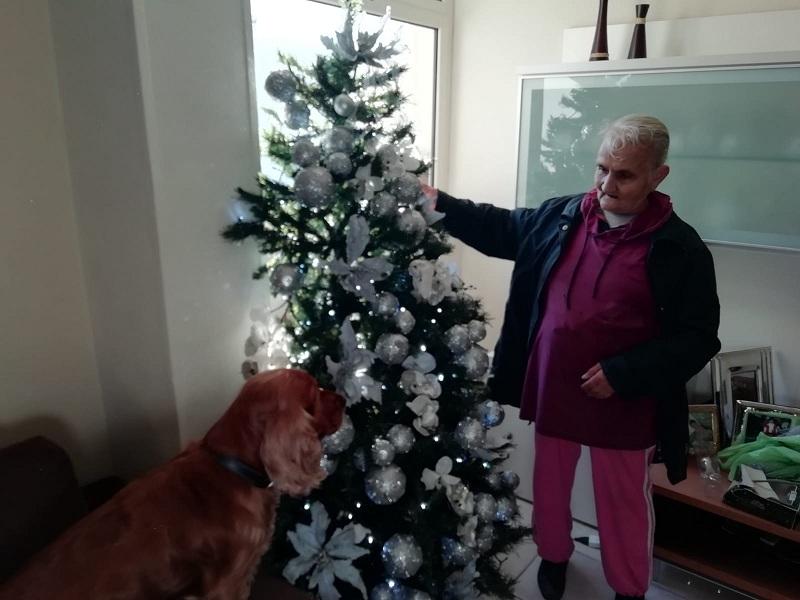 Sara Scalzo. Una foto natalizia.