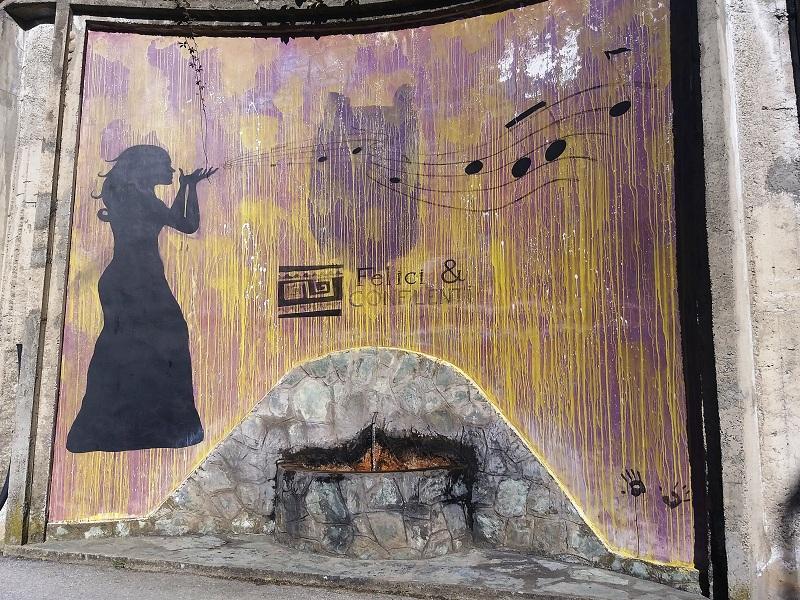 Fontana. Il murales de l'Acqua Fhicu