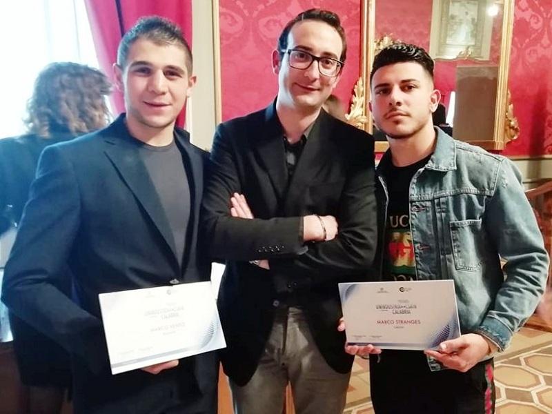 Premio Csain. Marco e Marco ricevono il premio