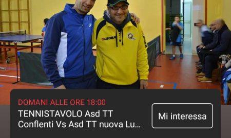 Tennistavolo Asd Tt Conflenti Vs Asd Tt Nuova Luzzi