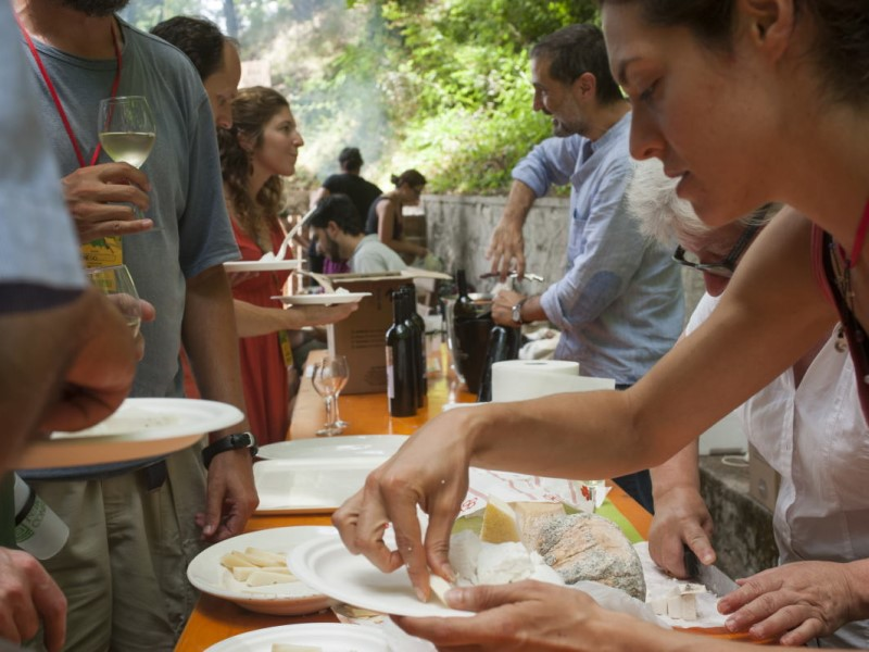Cucina felice: un momento del pranzo