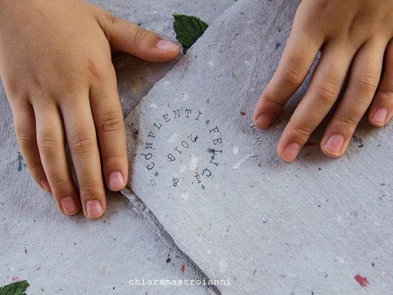 Laboratorio per bambini sulla Carta Riciclata