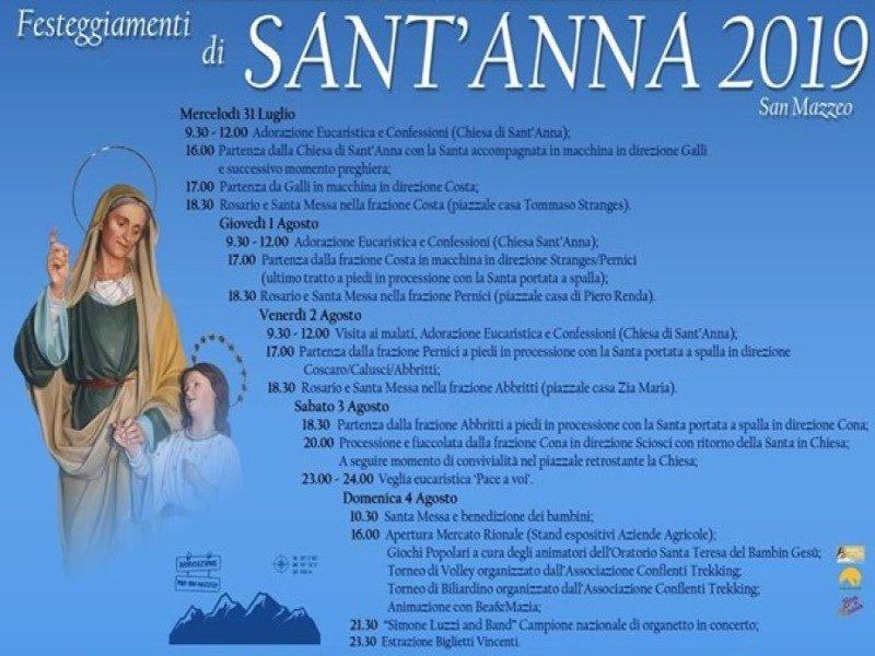 Sant'Anna: festeggiamenti a san mazzeo