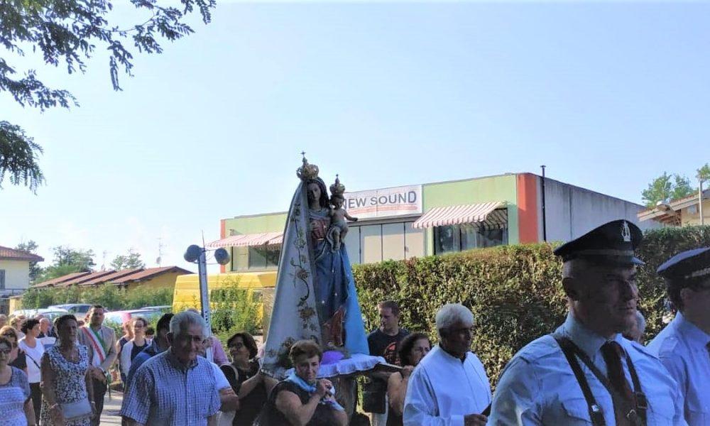 processione della Madonna a Borgo Ticino