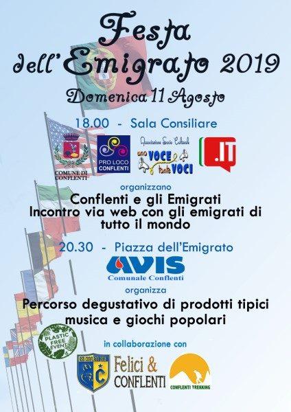 Festa dell'Emigrato 2019: Locandina