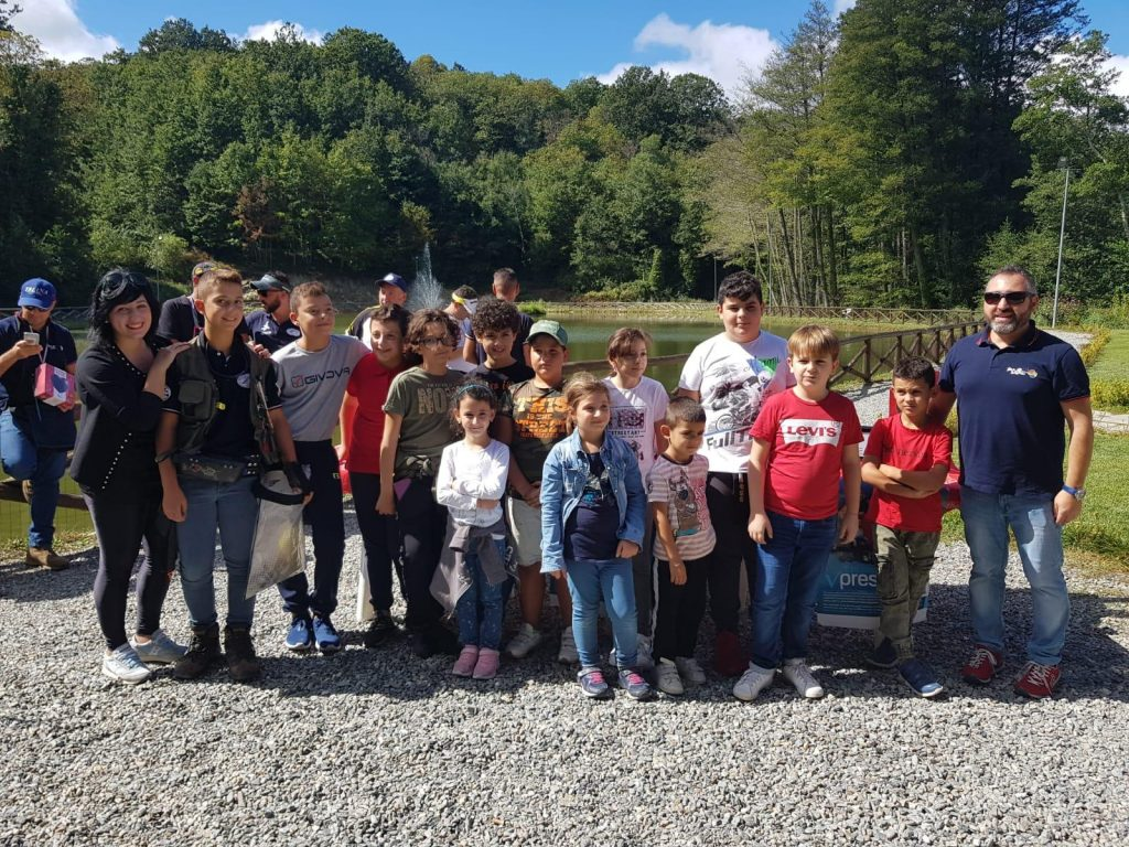Categoria bambini, gara di pesca