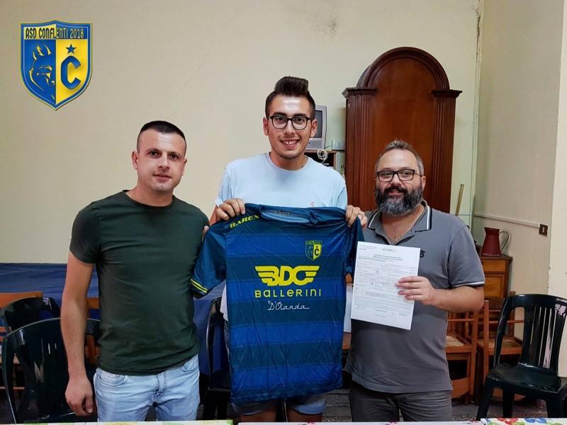 news asd: Angelo Cicco con il capitano e  un dirigente