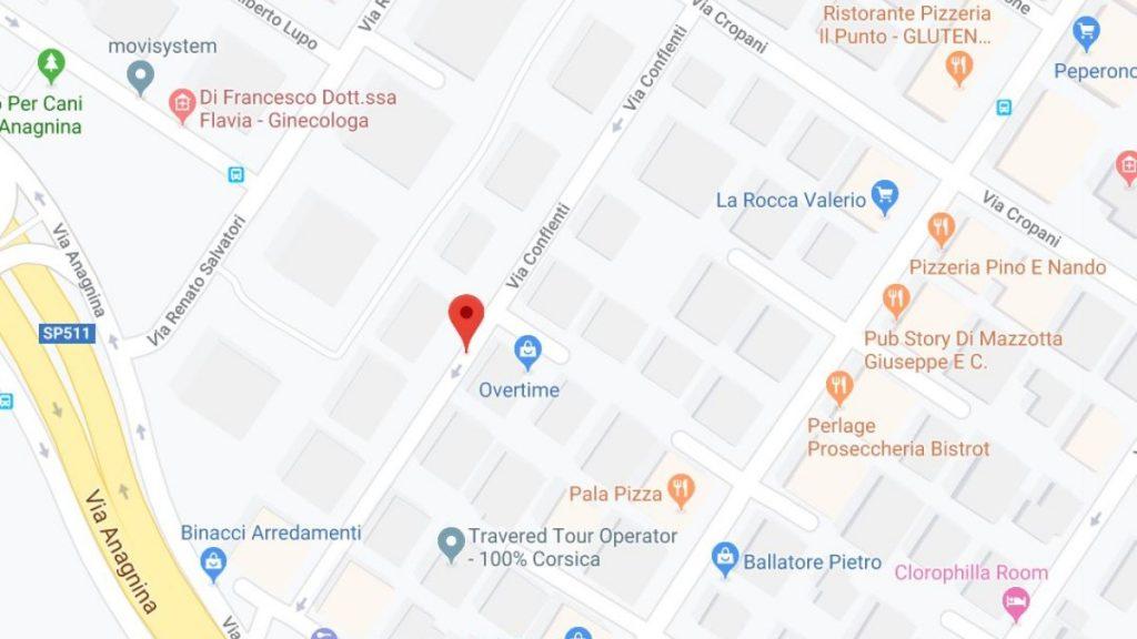 Via Conflenti: mappa di roma