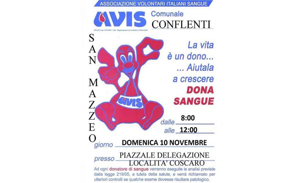 Donazione Avis a San Mazzeo: locandina