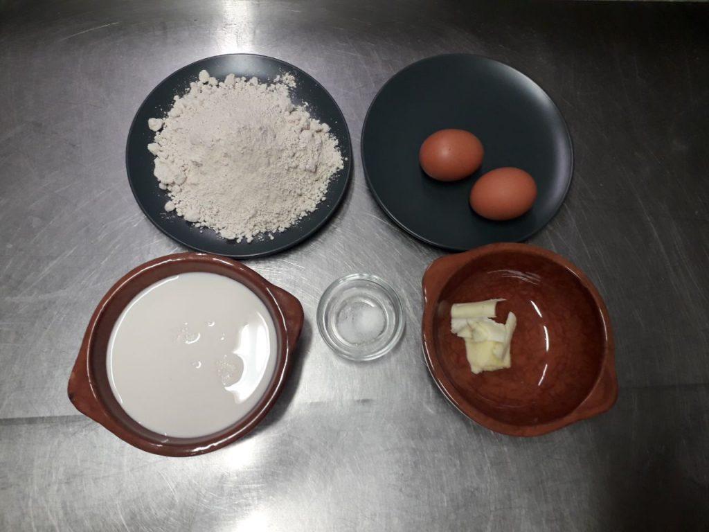 Ingredienti per crepes alla nutella