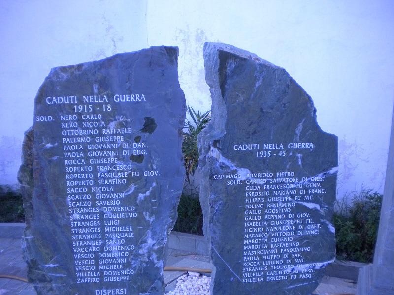 Lapidi con i nomi dei caduti