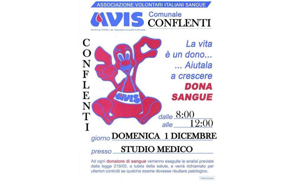 domenica 1 dicembre: donazione avis locandina