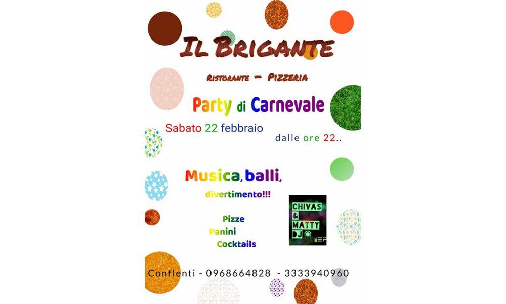 party di Carnevale a il brigante
