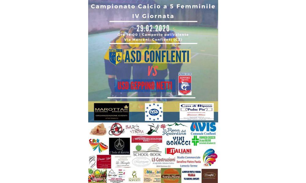 IV giornata del campionato Femminile