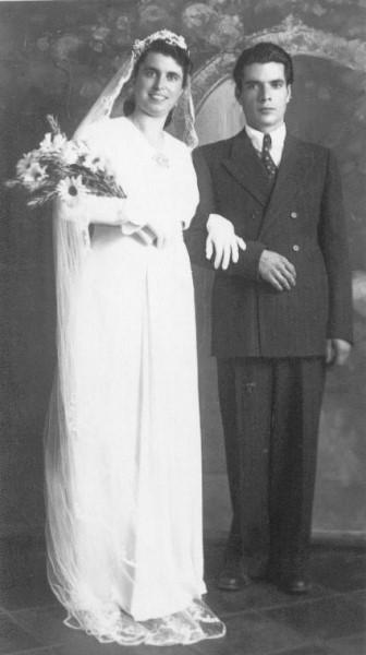 Politano e la moglie nel giorno del Matrimonio