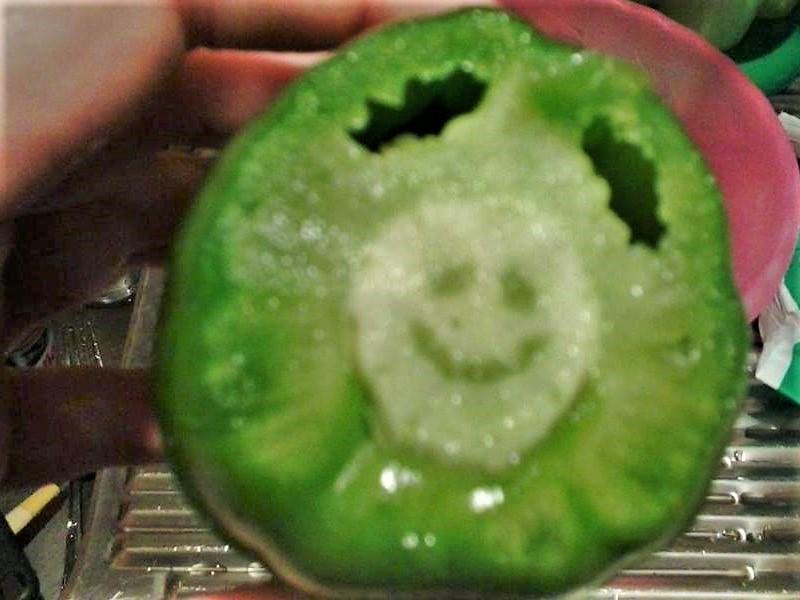orto: Peperone che sorride