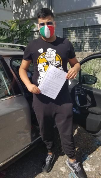 Andrea Gagliardi: uno dei maturati conflentesi