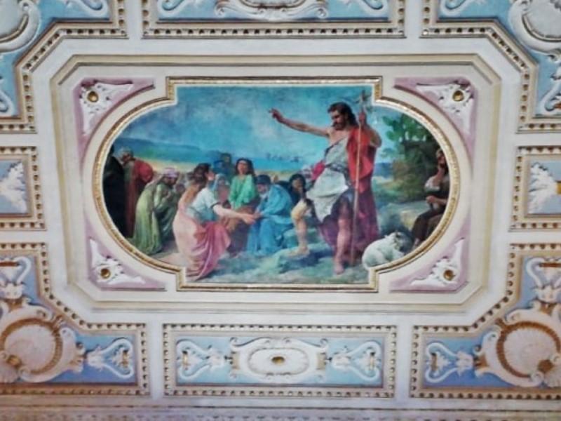 Dipinto Soffitto la predicazione di San giovanni