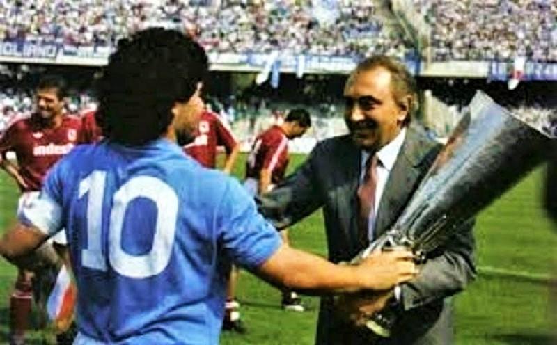 Maradona  e Corrado Ferlaino