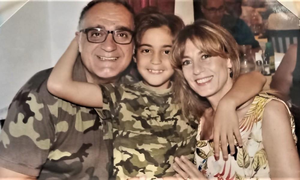 Lorenzo con la famiglia