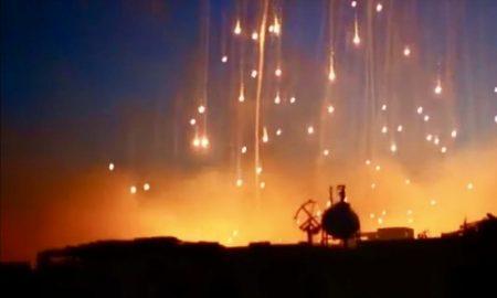 incendi nell'aria causati dal fosforo