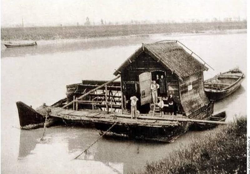 il museo delle acque di Crespino - una foto d'epoca del Po
