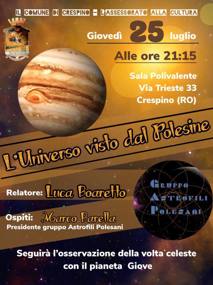 1^ serata della rassegna sull'astronomia