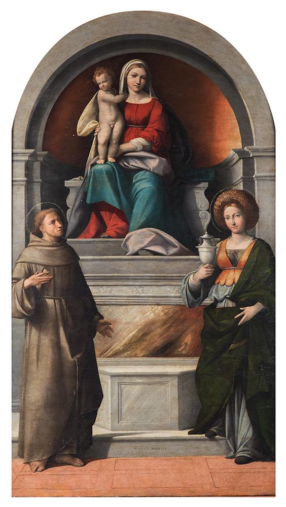 La Madonna con il bambino di Benvenuto Tisi