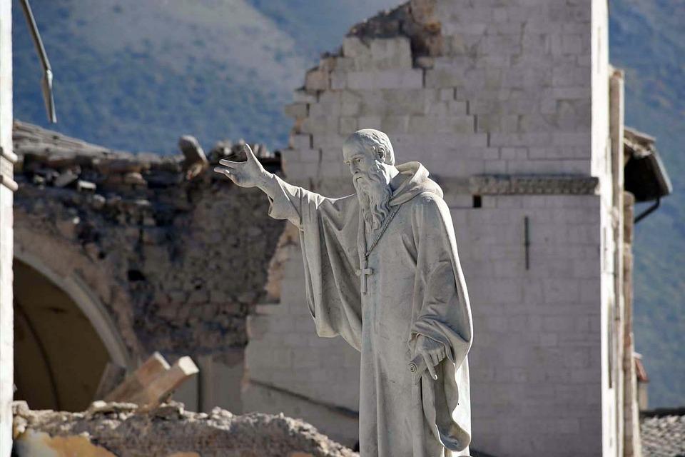 i monaci benedettini nel polesine - San Benedetto da Norcia