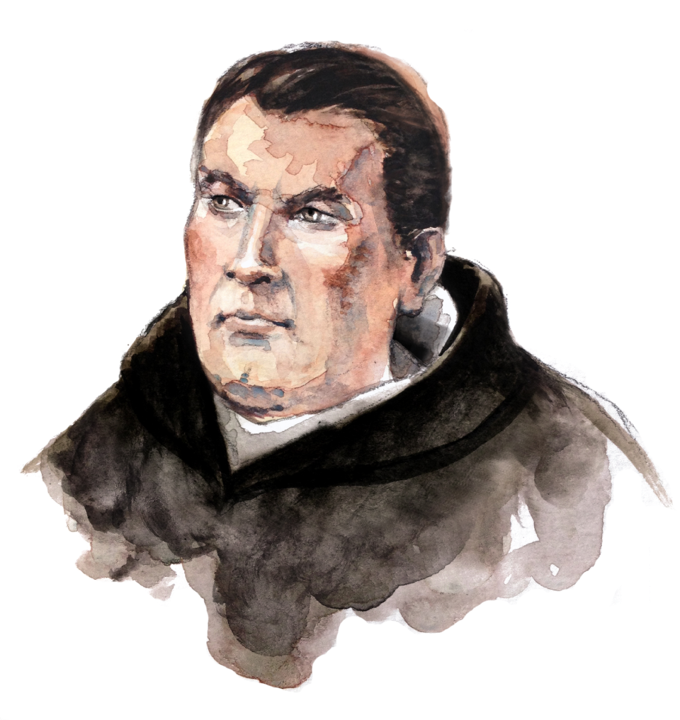 Ordine Benedettino - Frate Domenicano in mezzo busto