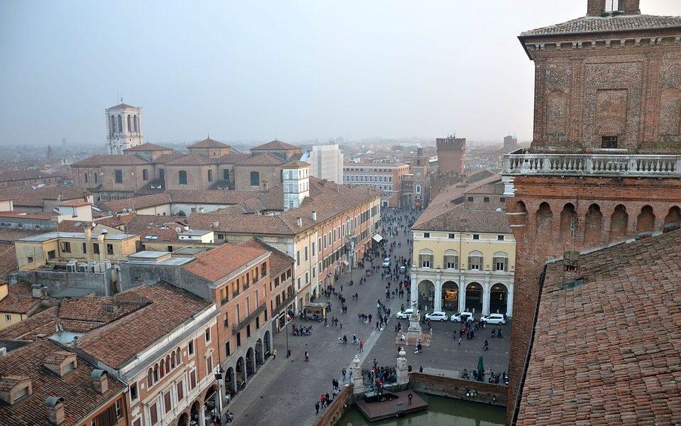 Polesani in visita a Ferrara - Ferrara Con Foschia