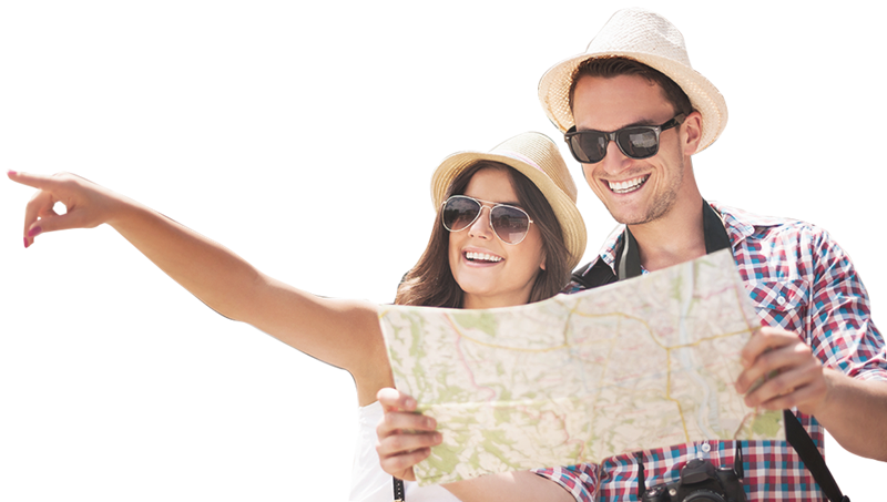 Polesani in visita a Ferrara - Turisti in giro per la città